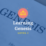 Learning Genesis Quiz Level 1 Poster
